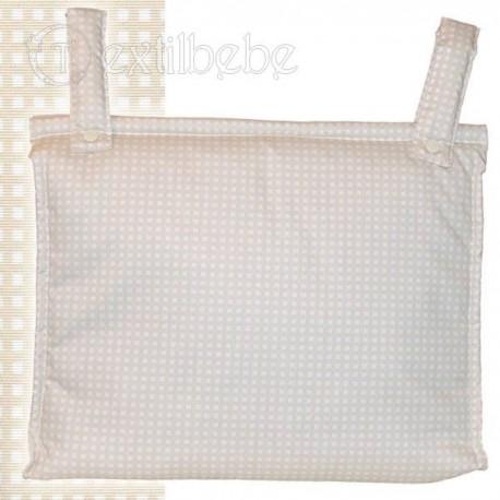 Bolso Silla|Cochecito Plastificado Cuadro Beig
