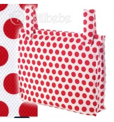 Bolso Silla|Cochecito Plastificado Topins Rojo