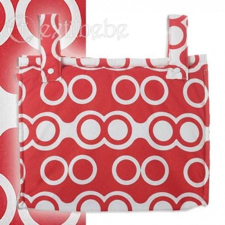 Bolso Silla Cochecito Plastificado Oslo Rojo