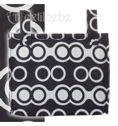 Bolso Silla|Cochecito Plastificado Oslo Negro