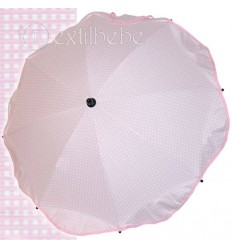 Sombrilla + Flexo Universal Cuadro Rosa