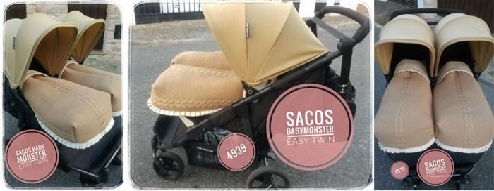 Sacos Silla Taller 3: Universal Gemelar en BabyMonster Easy Twin
